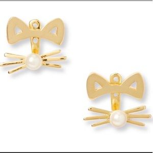 Kate Spade Out West Cat Jacket Earrings - NWT